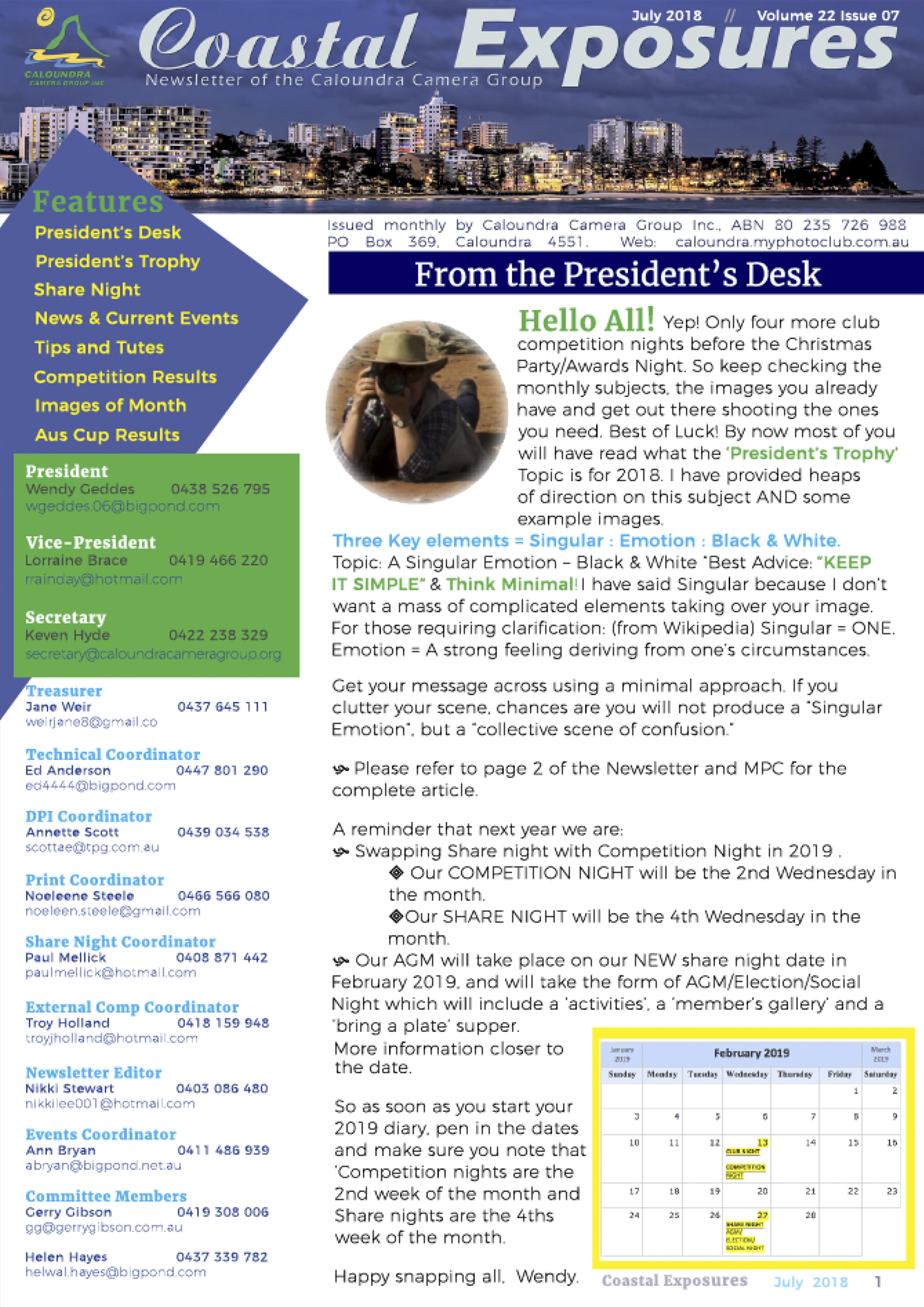 July 2018 Newsletter Cover Image