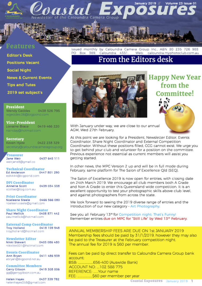 January 2019 Newsletter Cover Image
